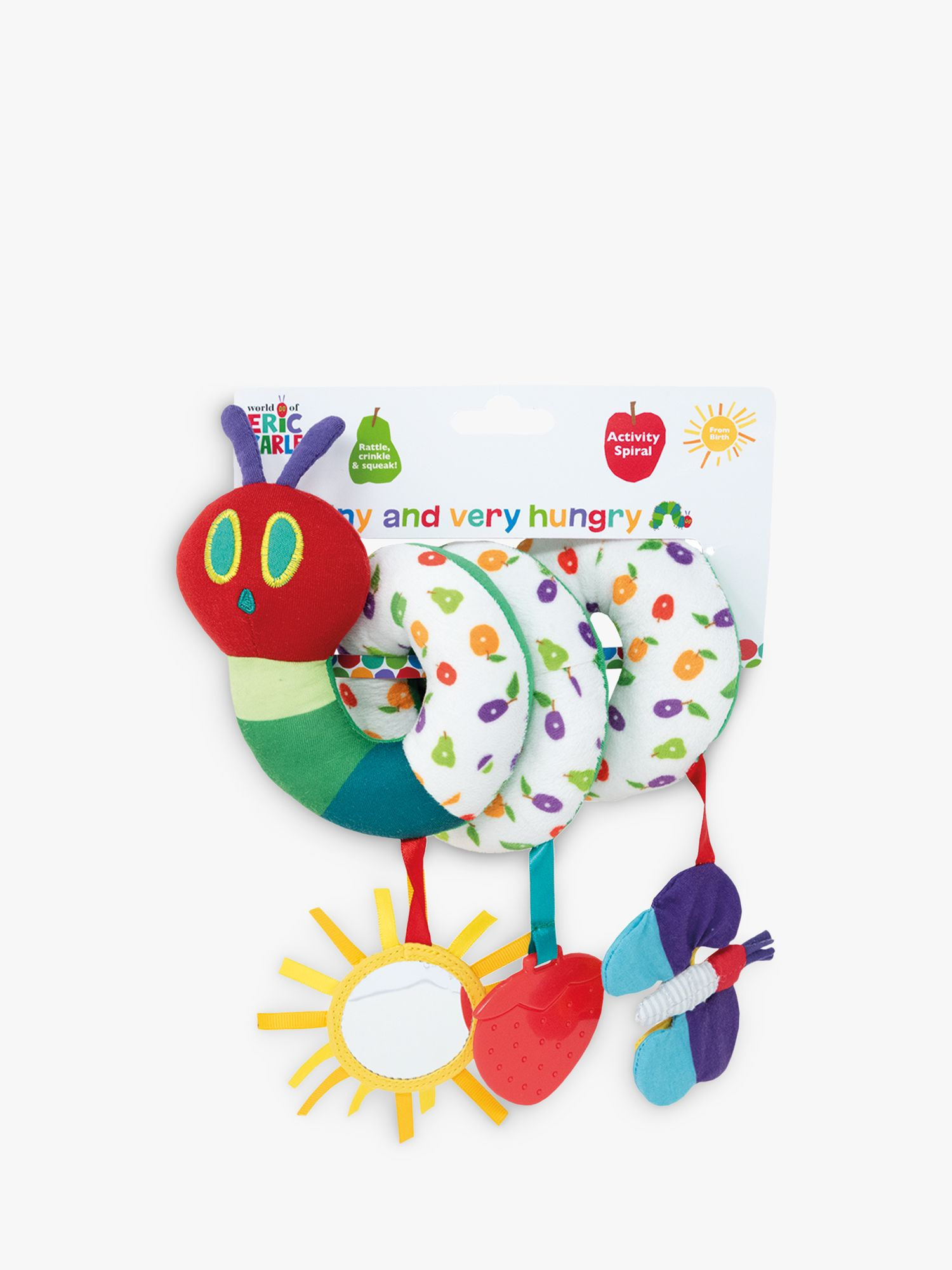 Rainbow Designs Very Hungry Caterpillar Activity Spiral Toy, Multi