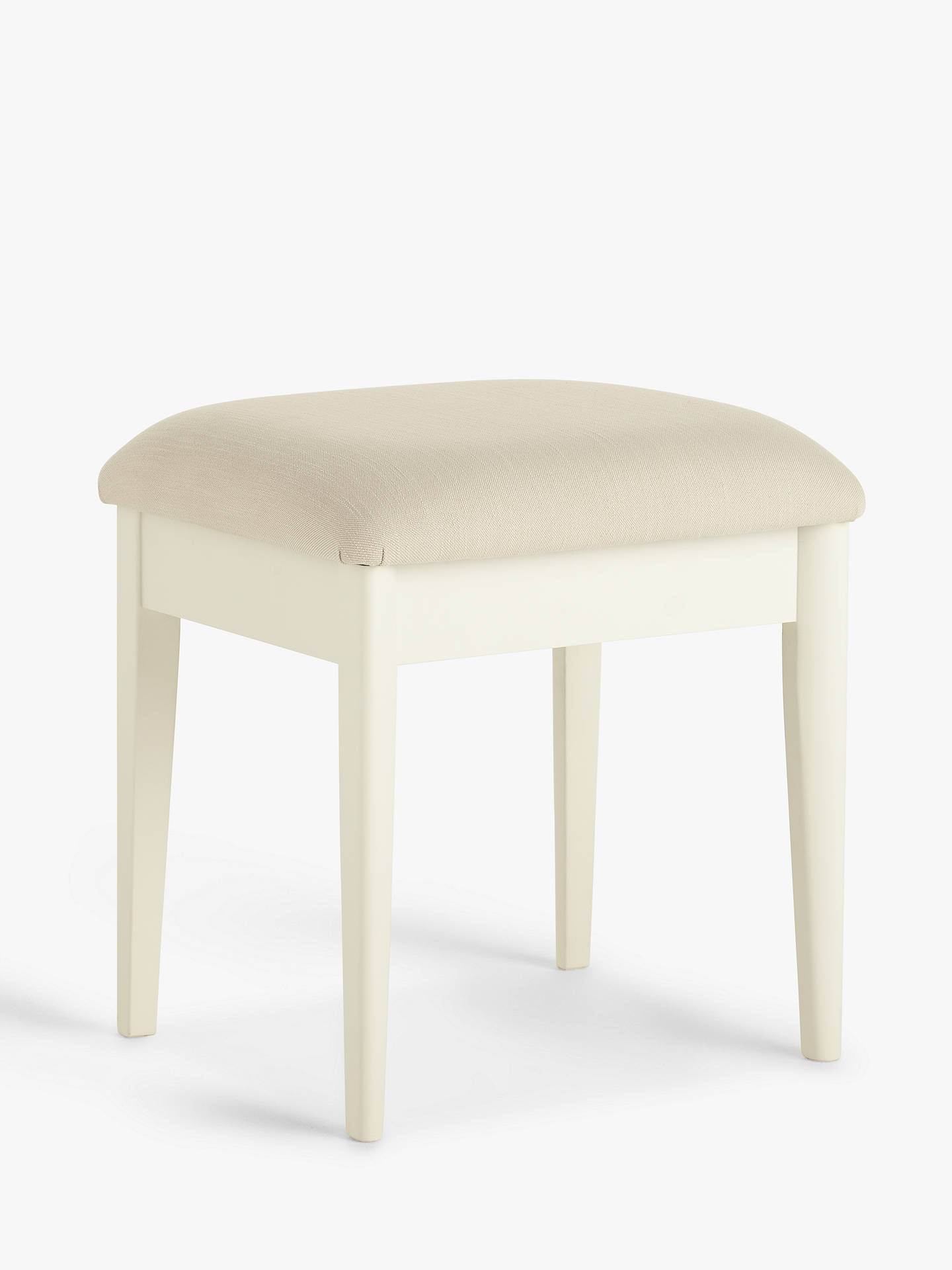 Buy John Lewis & Partners Essence Stool, White Online at johnlewis.com