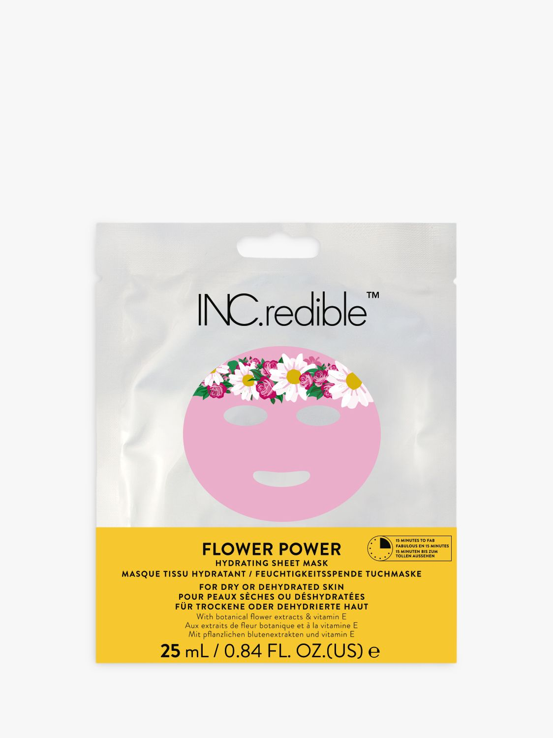 Nails Inc INC.redible Flower Power Facial Sheet Mask, 24ml