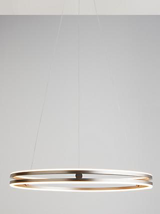 Design Project by John Lewis No.209 Wheel LED Ceiling Light, Matt Nickel