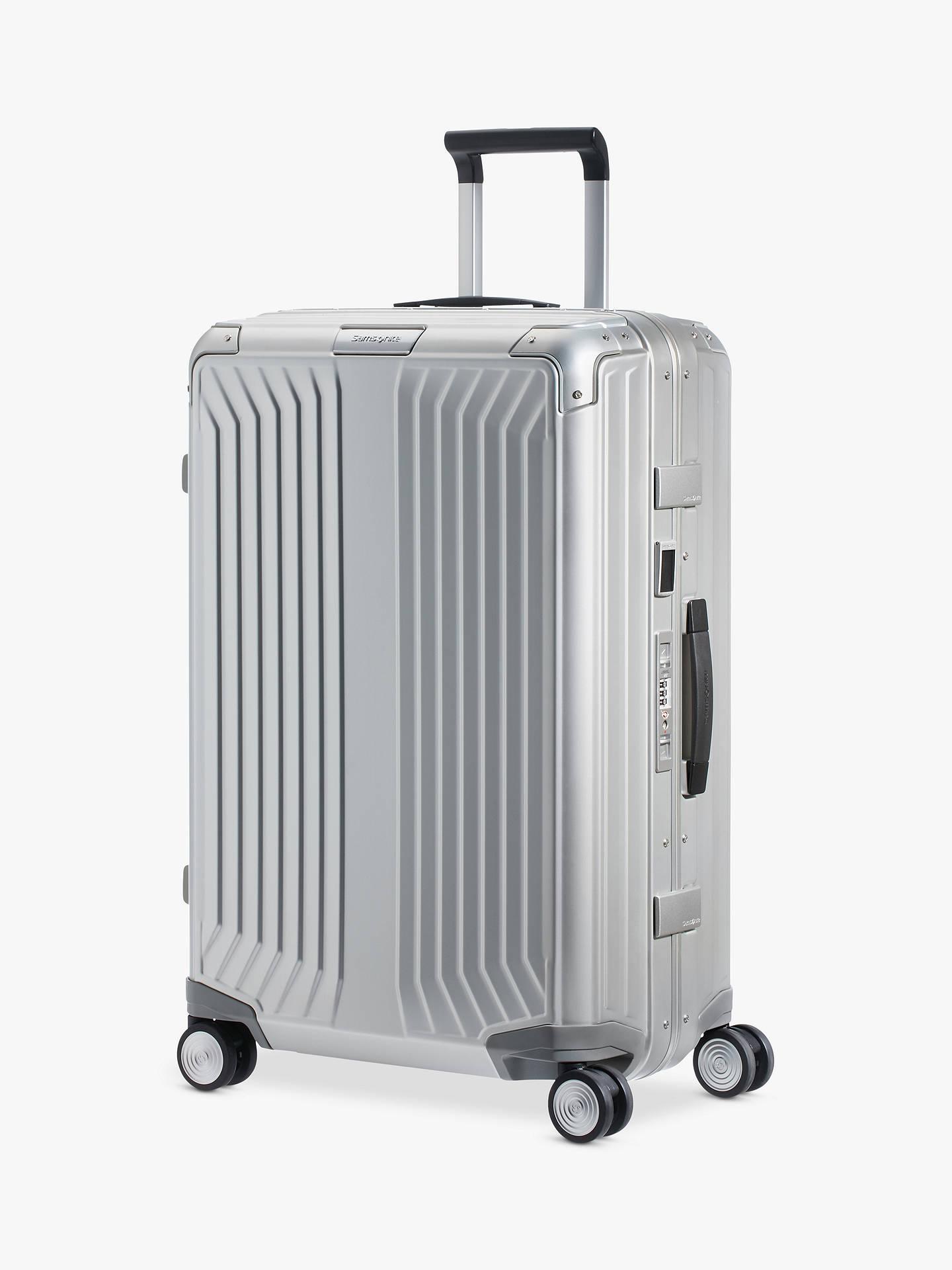 6adb9798a9 Buy Samsonite Lite-Box 69cm 4-Spinner Wheel Aluminium Suitcase, Silver  Metallic Online ...