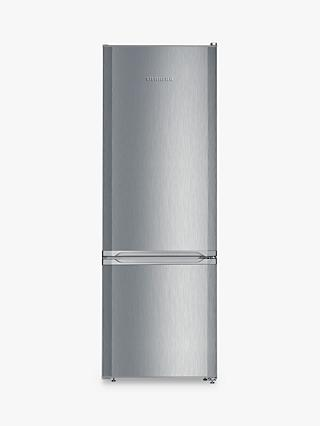 Liebherr CUEL2831 Freestanding Fridge Freezer, A++ Energy Rating, 55cm Wide, Stainless Steel