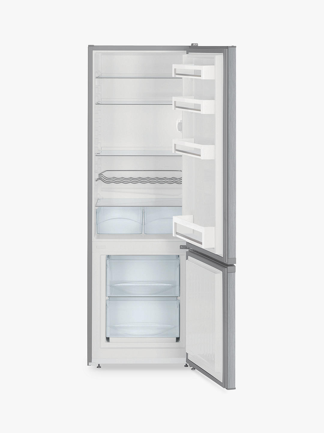Buy Liebherr CUEL2831 Freestanding 70/30 Fridge Freezer, A++ Energy Rating, 55cm Wide, Stainless Steel Online at johnlewis.com