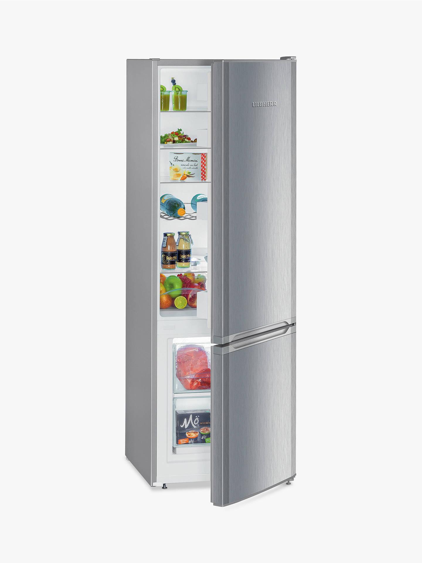 Liebherr CUEL2831 Freestanding Fridge Freezer, A++ Energy Rating, 55cm  Wide, Stainless Steel