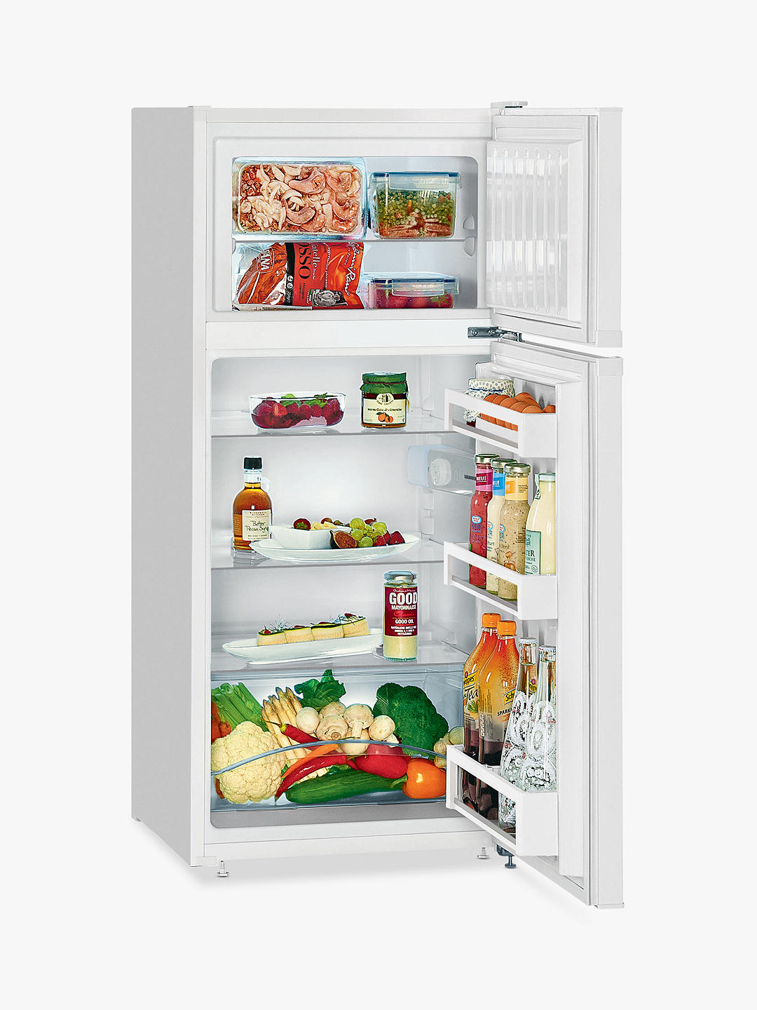 Buy Liebherr CT2131 Freestanding 80/20 Fridge Freezer, A++ Energy Rating, 55cm Wide, White Online at johnlewis.com