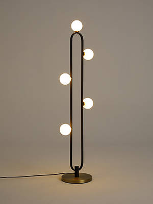 Buy John Lewis & Partners Matinee Floor Lamp, Black/Brass Online at johnlewis.com