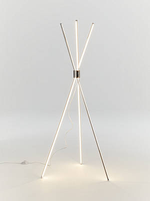 Buy John Lewis & Partners Wigwam LED Floor Lamp, Silver Online at johnlewis.com