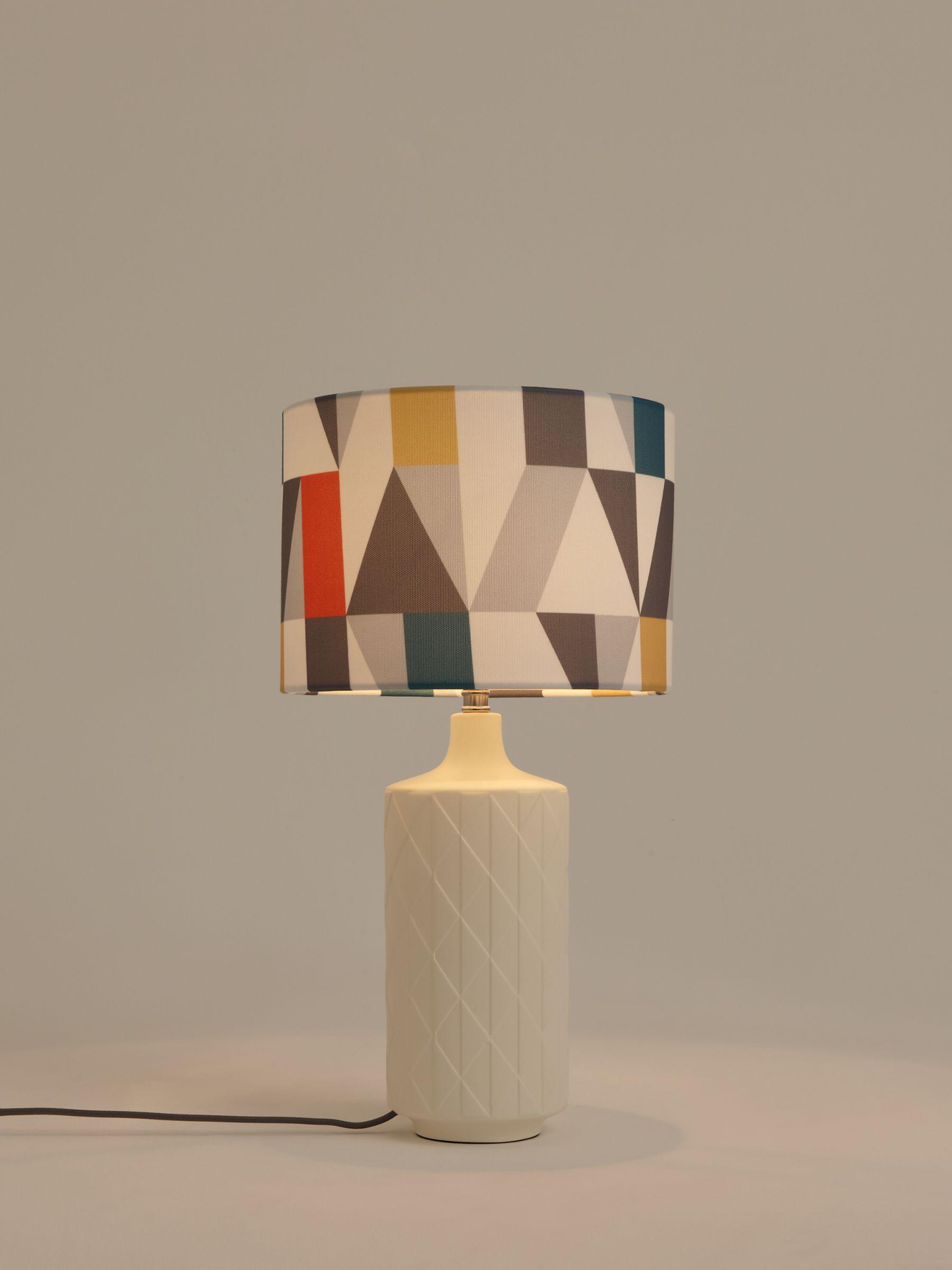 Scion Nuevo Tall Ceramic Table Lamp Pimento White At John Lewis Partners