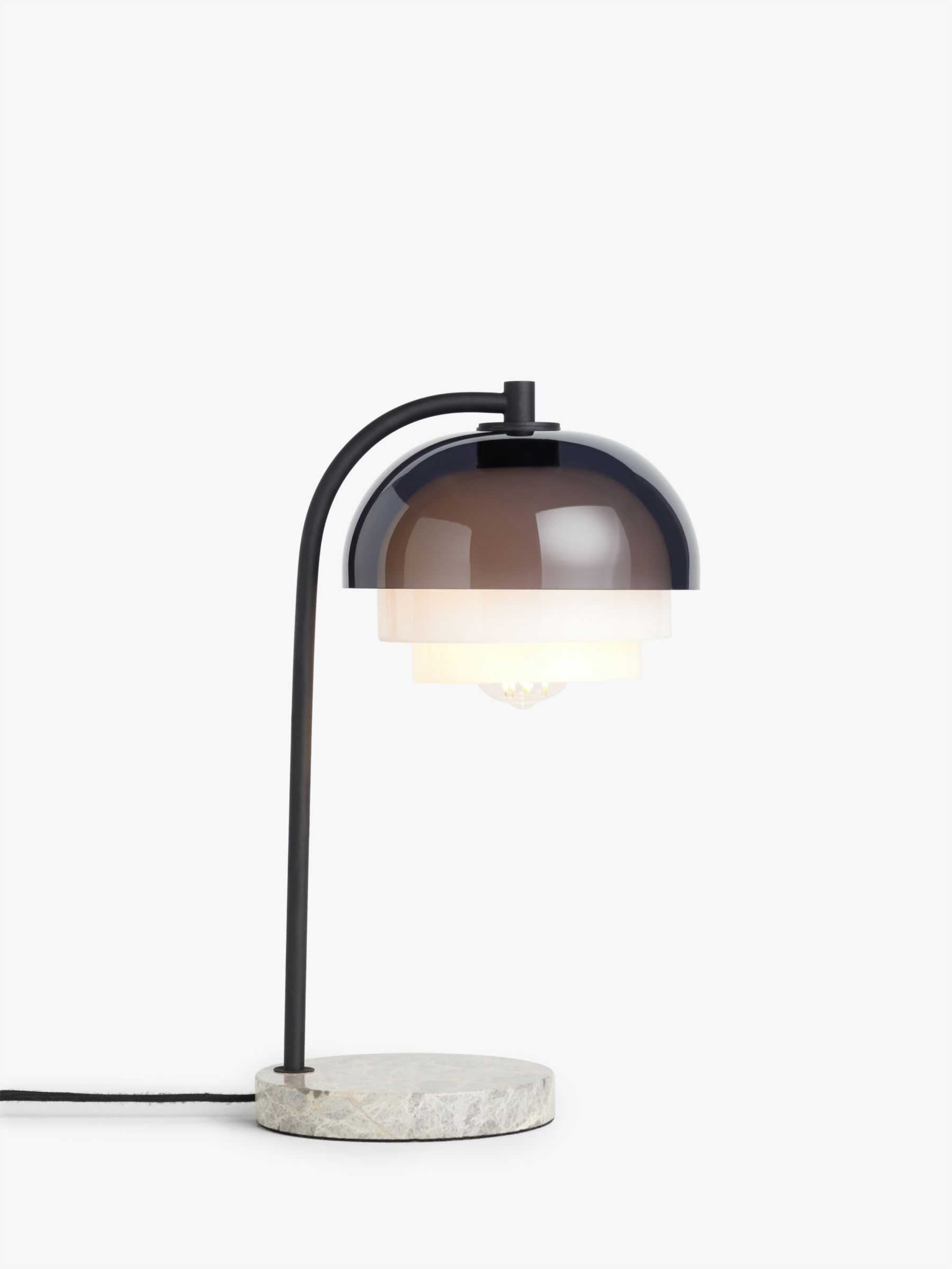 Design Project By John Lewis No 210 3 Tier Table Lamp Smoke Grey At John Lewis Partners
