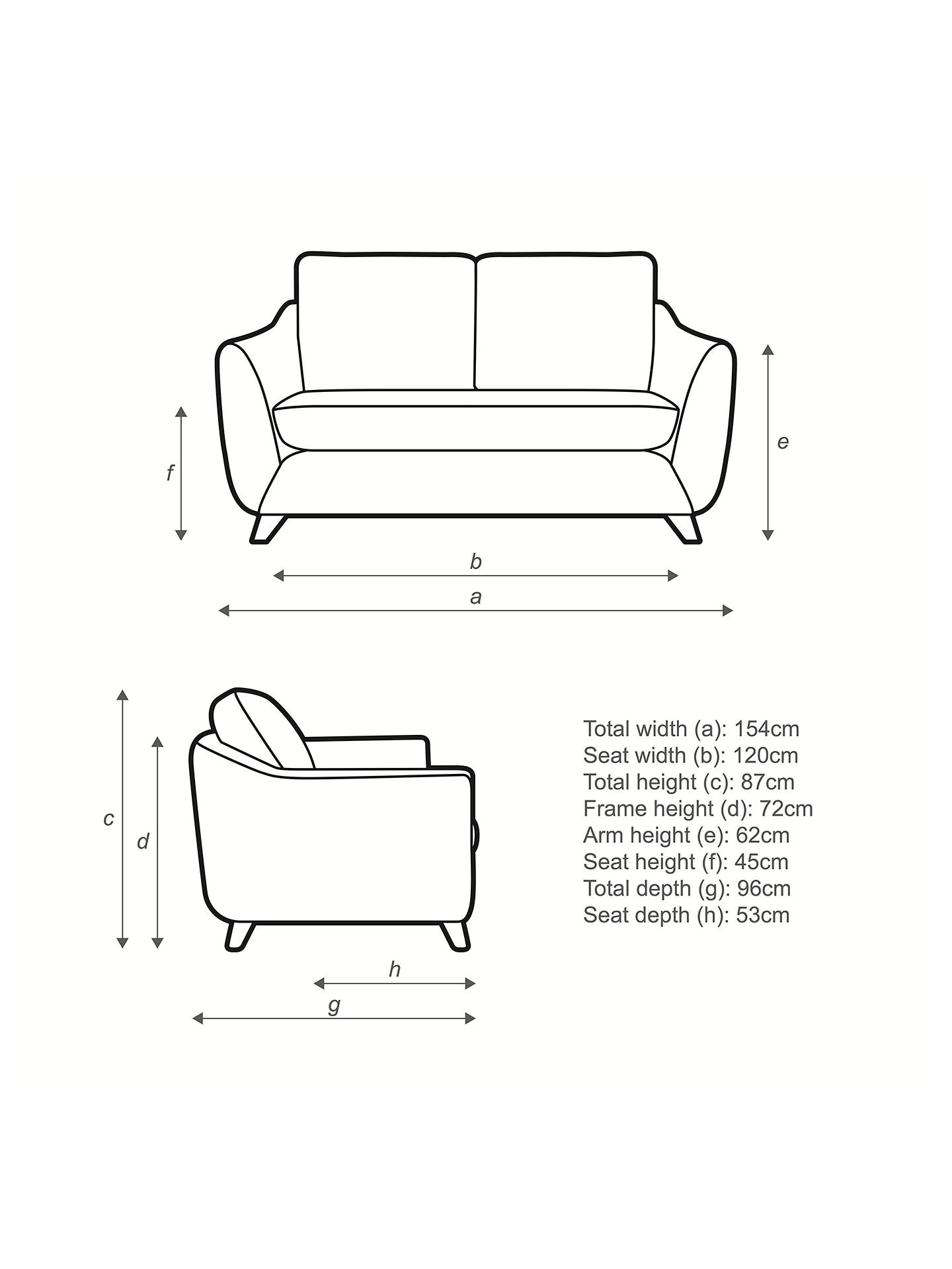 Buy G Plan Vintage The Sixty Seven Small 2 Seater Sofa, Sorren Grey Online at johnlewis.com