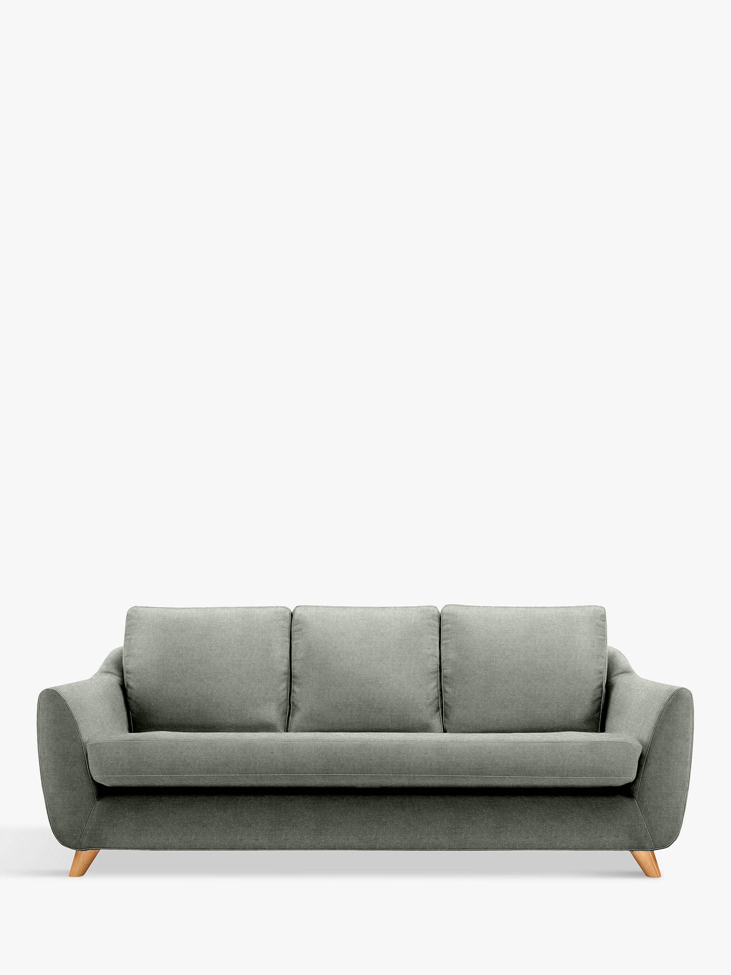 Buy G Plan Vintage The Sixty Seven Large 3 Seater Sofa, Deluxe Mouse Velvet Online at johnlewis.com