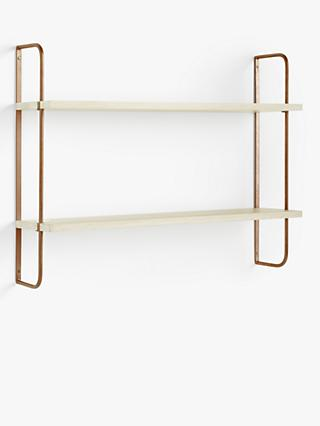 Design Project by John Lewis No.185 Wide Shelves, Natural/Oak