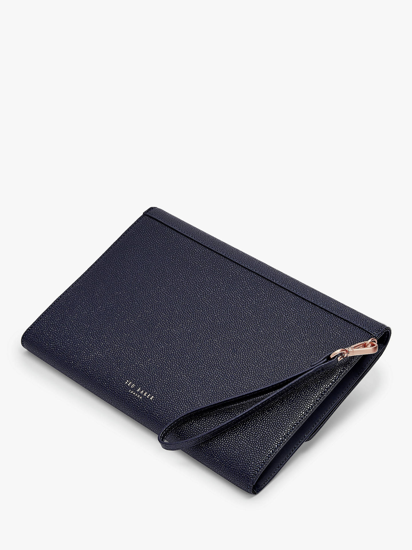 3ff6ee1f9 Ted Baker Krystan Leather Bow Pouch Clutch Bag at John Lewis   Partners