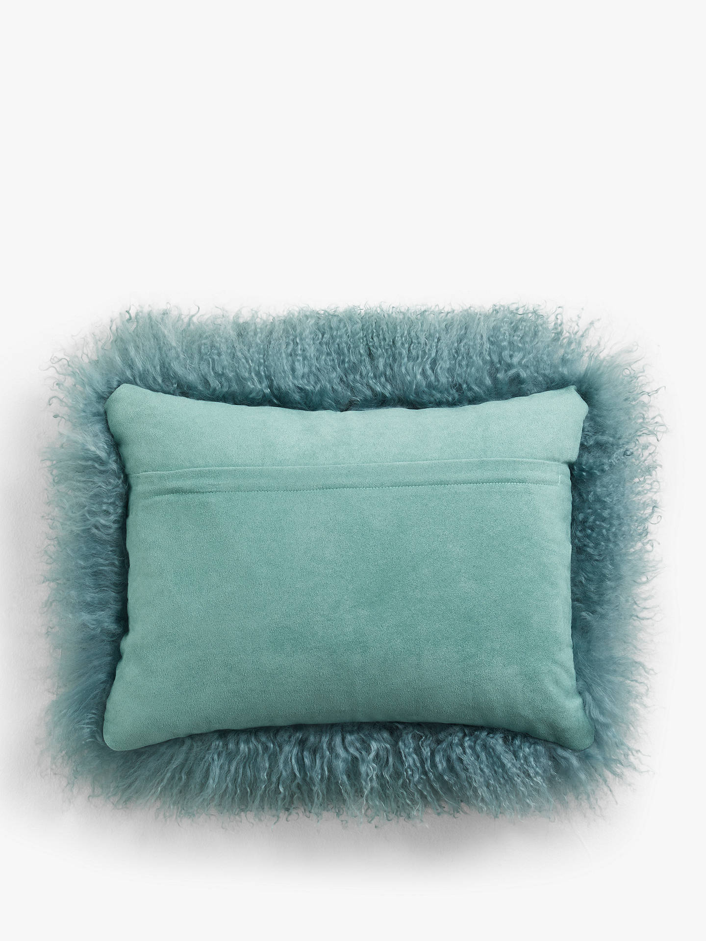 Buy John Lewis & Partners Mongolian Cushion, Soft Teal Online at johnlewis.com