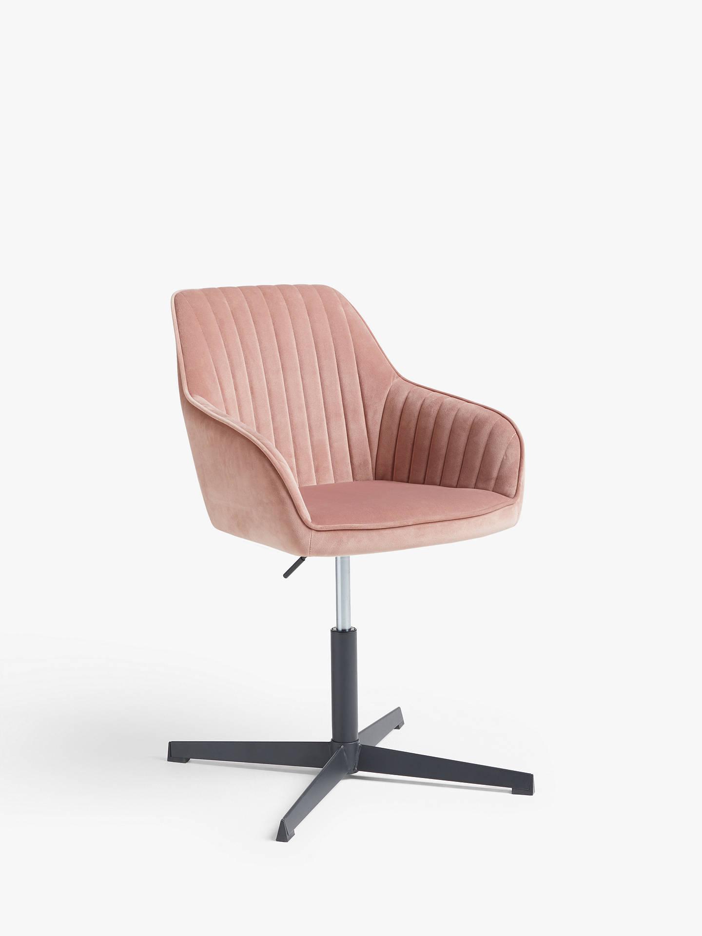 Rose Velvet Office Chair