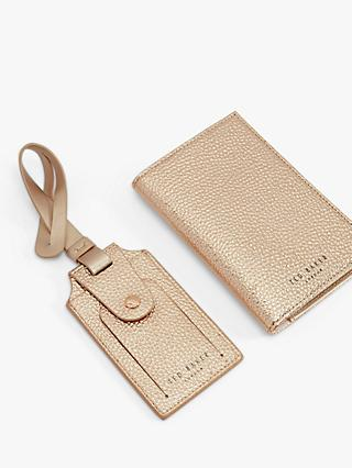 333f64a0c Ted Baker Farran Leather Passport Cover   Luggage Tag Gift Set