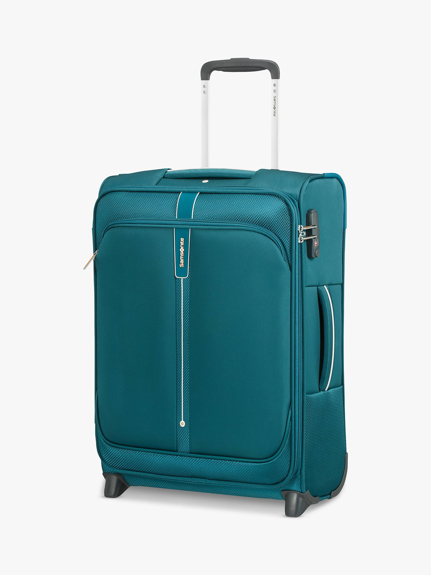 Buy Samsonite Popsoda 2-Wheel 55cm Upright Cabin Case, Teal Online at johnlewis.com