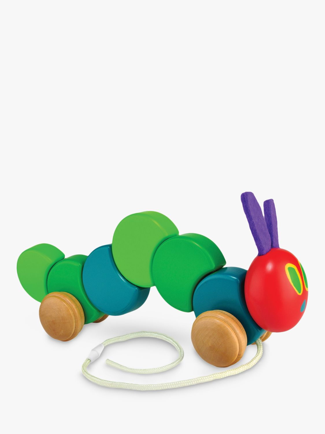 Rainbow Designs Very Hungry Caterpillar Wooden Pull Along Toy