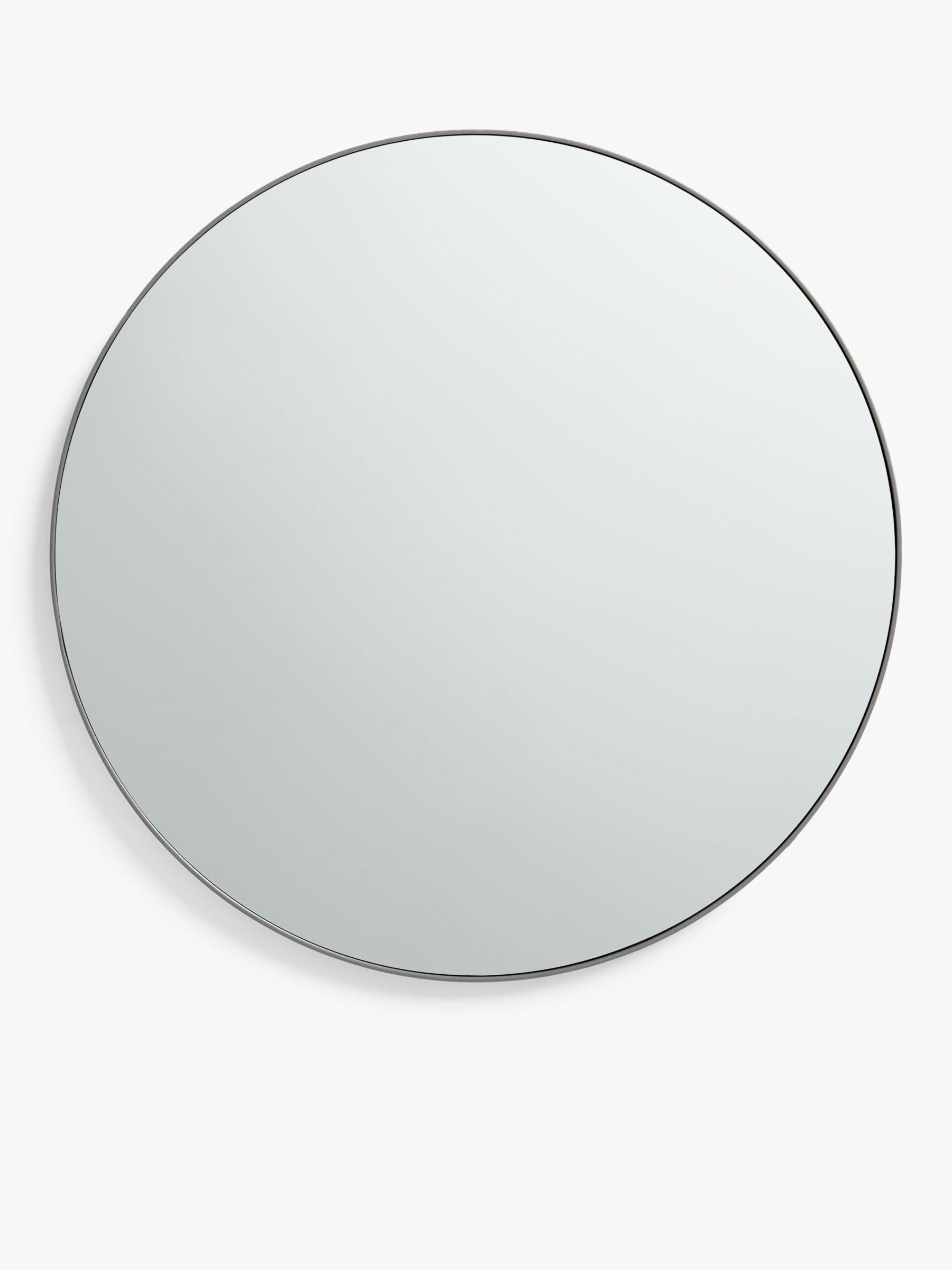John Lewis & Partners Metal Frame Small Round Mirror, 50cm