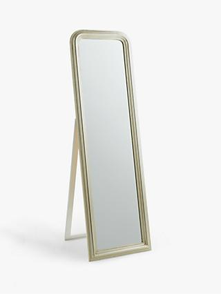 John Lewis & Partners Beaded Cheval Mirror, 165 x 50cm, Champagne