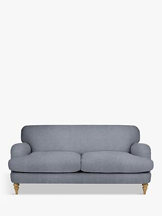 John Lewis & Partners Harrogate High Back Large 3 Seater Sofa, Light Leg, Erin Grey