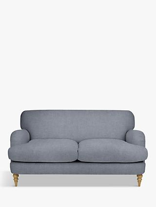 John Lewis & Partners Harrogate High Back Medium 2 Seater Sofa, Light Leg, Erin Grey