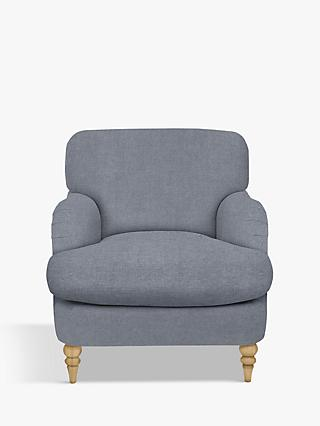 John Lewis & Partners Harrogate High Back Armchair, Light Leg, Erin Grey