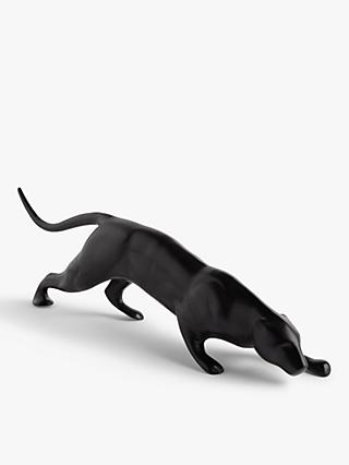 John Lewis & Partners Panther Sculpture, Black, L69cm