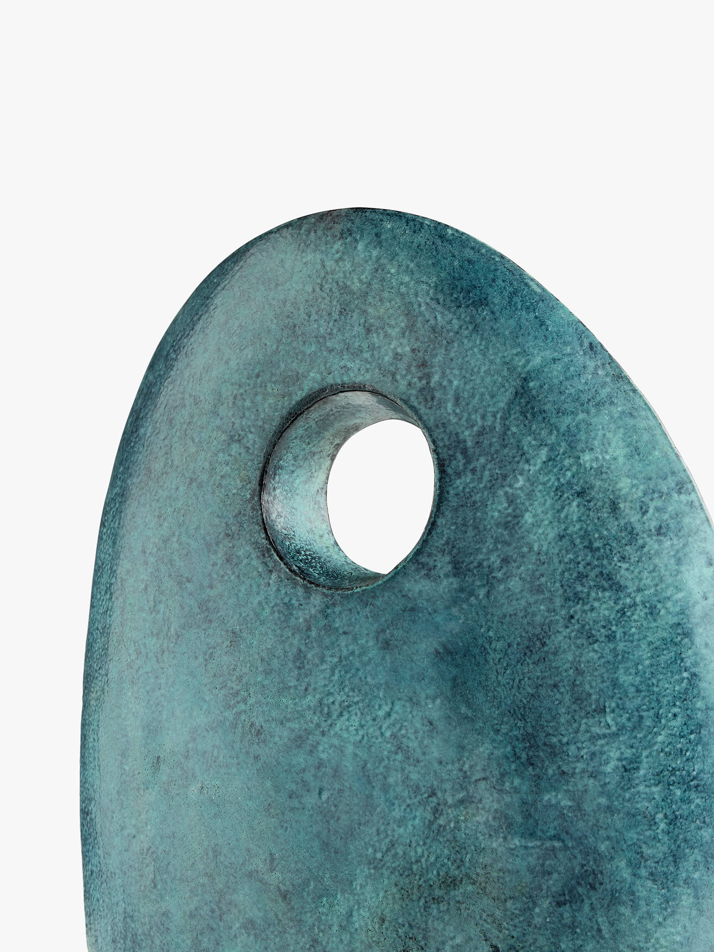 Buy John Lewis & Partners Patina Pebble Hole Sculpture, Green, H40.5cm Online at johnlewis.com