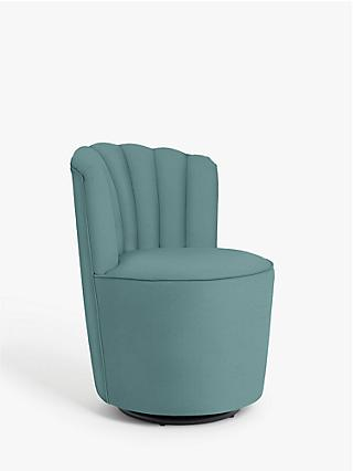 John Lewis & Partners Pirouette Swivel Accent Armchair, Lucca Soft Teal Velvet