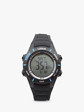 Lorus Unisex Digital Silicone Strap Watch