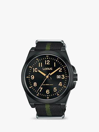 972057abde0 Lorus RH939KX9 Men s Date Fabric Strap Watch