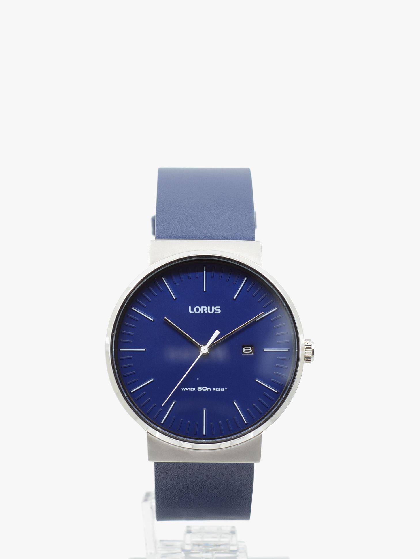 Lorus Lorus RH985KX9 Men's Date Leather Strap Watch, Blue