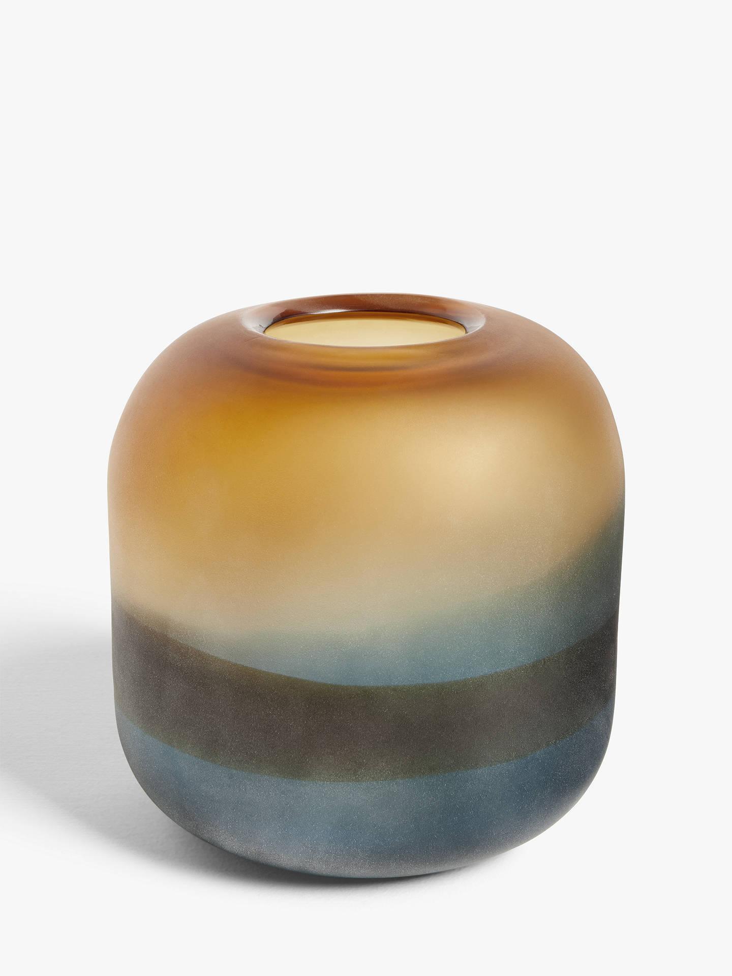 John Lewis & Partners 3 Tone Glass Small Vase, H20cm, Multi by John Lewis & Partners