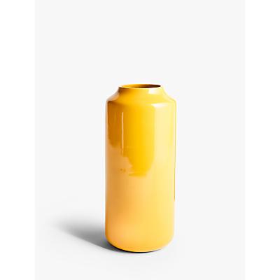 John Lewis & Partners Lacquered Aluminium Vase, Yellow, H35cm