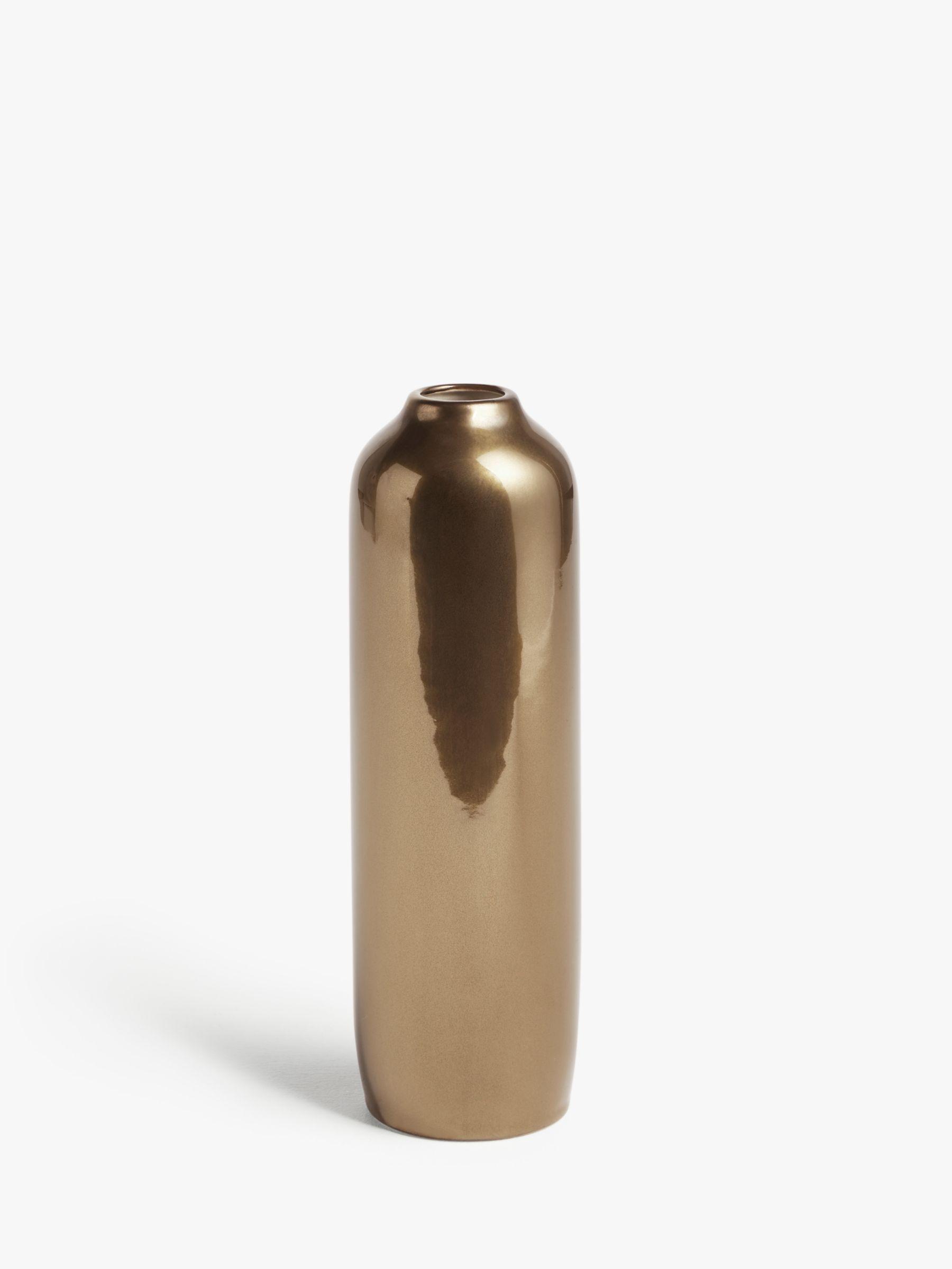 John Lewis Partners Tall Ceramic Vase Bronze H27cm At John Lewis Partners