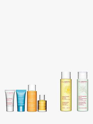 Clarins Toning Lotion Normal/Dry and Cleansing Milk Normal/Dry Bundle with Gift