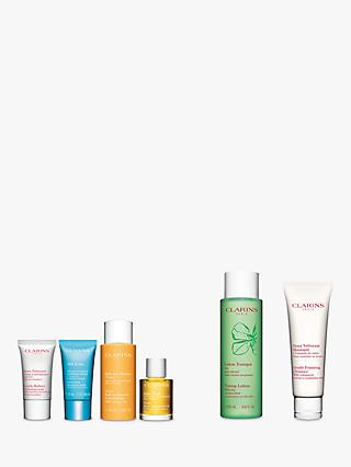 Clarins Toning Lotion Combination/Oily Skin and Gentle Foaming Cleanser Normal/Combination Bundle with Gift