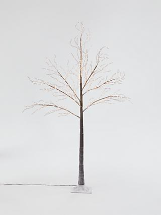 John Lewis & Partners Pre-Lit Birch Twig Tree, Copper, 6ft