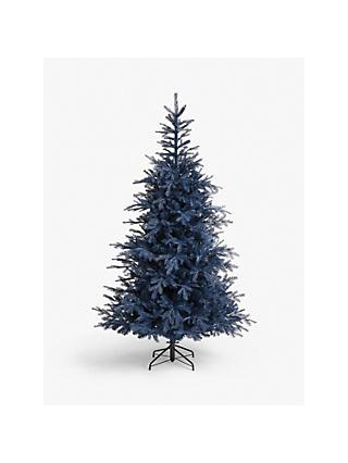 John Lewis & Partners Isla Diamond Smoke Fir Unlit Christmas Tree, 7ft