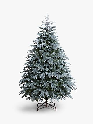 John Lewis & Partners St. Petersburg Unlit Christmas Tree, Blue, 7ft