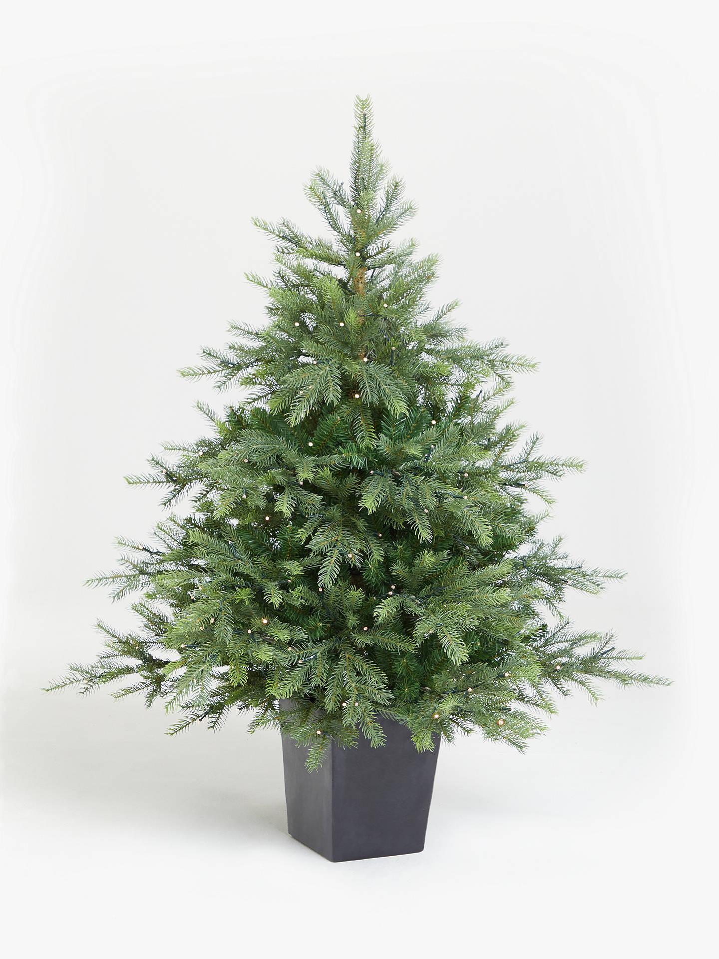 John Lewis Partners Isla Battery Powered Pre Lit Christmas Tree 4 5ft