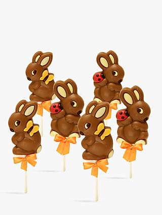 Natalie Chocolate Easter Bunny Lollies, 35g, Set Of 3 bundle