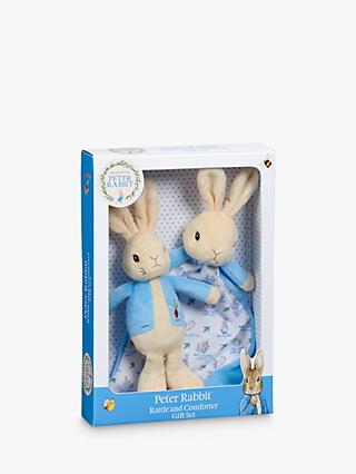 Peter Rabbit Comfort Blanket and Rattle Gift Set
