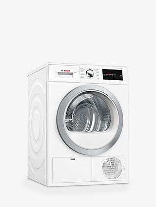 Bosch WTG86402GB Sensor Condenser Tumble Dryer, 8kg Load, B Energy Rating, White