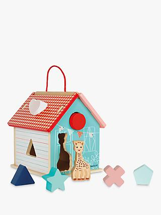 Sophie La Giraffe Shape Sorting House Game