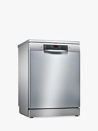 Bosch Serie 4 SMS46II01G Freestanding Dishwasher, Stainless Steel
