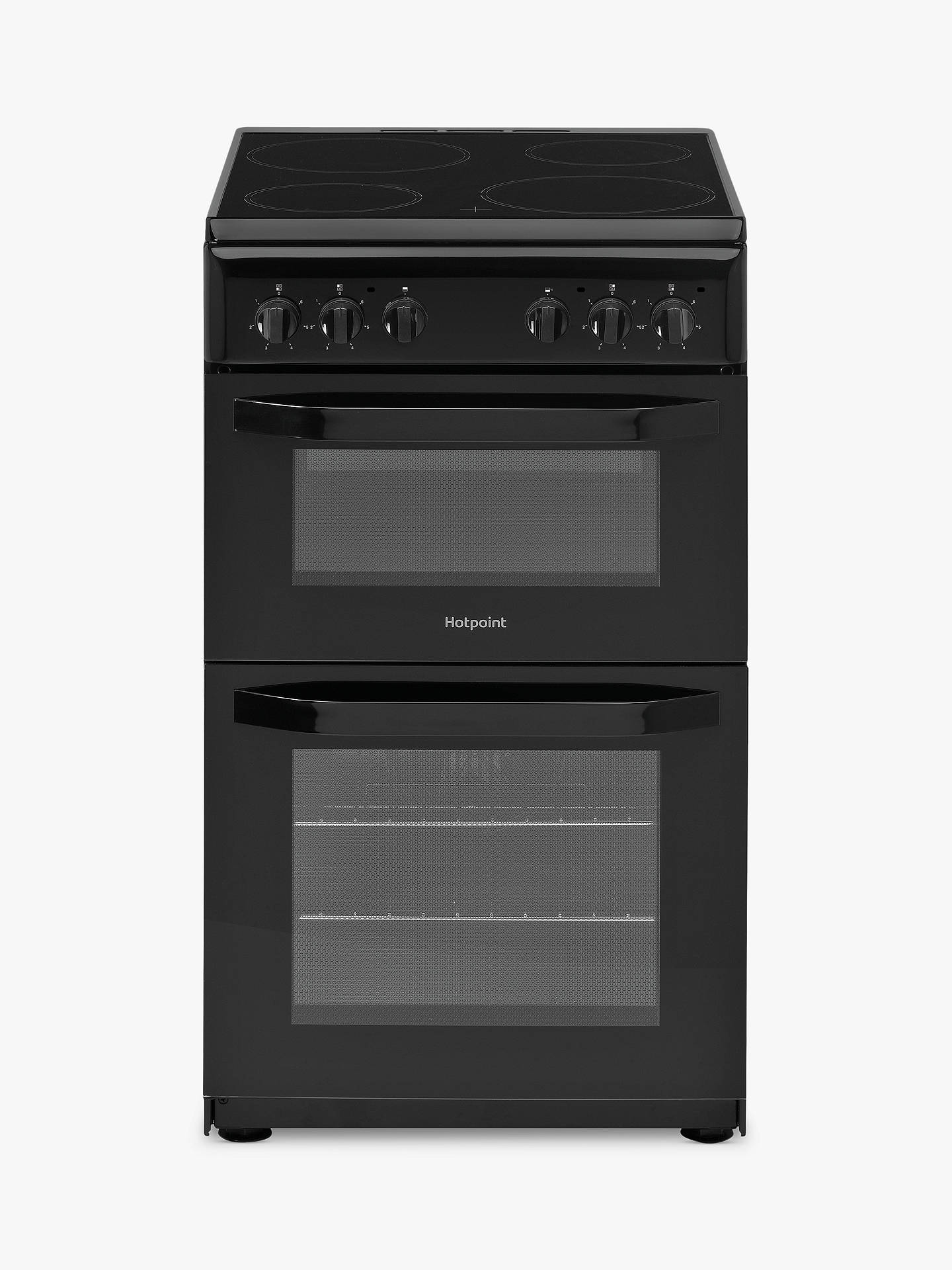 Buy Hotpoint CLOE HD5V92KCB/UK 50cm Single Electric Cooker, A Energy Rating, Black Online at johnlewis.com