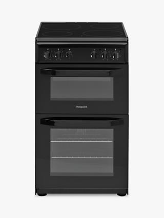 Hotpoint CLOE HD5V92 50cm Single Electric Cooker, A Energy Rating