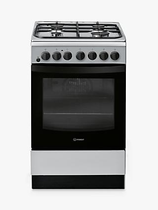Indesit CLOE IS5G4PHX/UK 50cm Single Gas Cooker, A Energy Rating, Silver